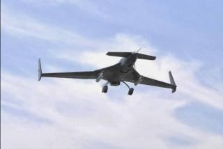A Nigerian Air Force CASC Ch-3 Rainbow drone in flight