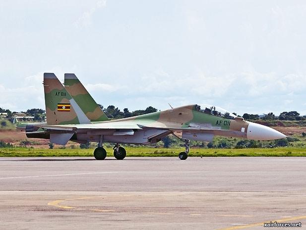 Uganda-Peoples-Defence-Force-Air-Wing_Sukhoi_Su-30MK2_Flanker-C_060513