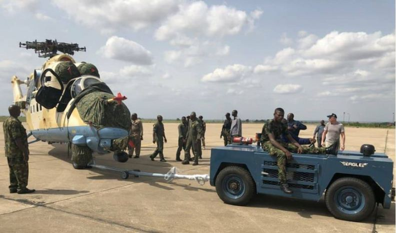 Image result for Nigeria Air Force received Mi 35 helicopter
